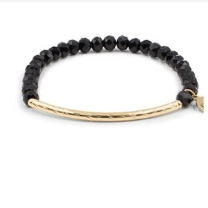 NEW! Kinsley Armelle Glory Collect. Coal Bracelet